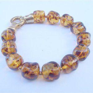 Jewelry - Golden Honey Czech Crystal 12mm Bead Bracelet